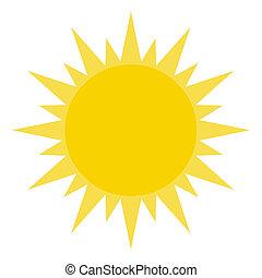 het glanzen, zon, gele