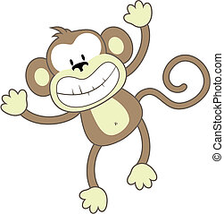 het glimlachen, aap