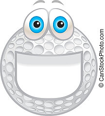 het glimlachen, bal, golf