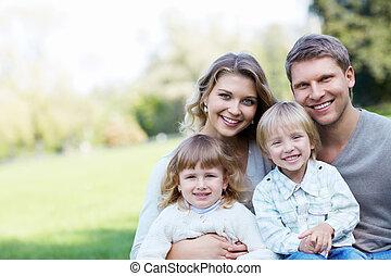 het glimlachen, gezin