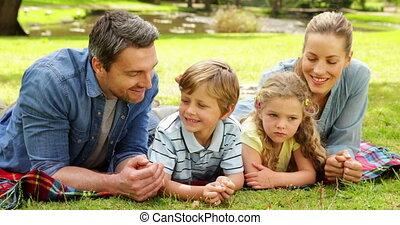het glimlachen, gezin, schattig, fototoestel