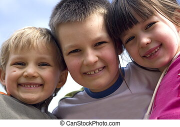 het glimlachen, kinderen