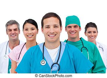 het glimlachen, team, medisch