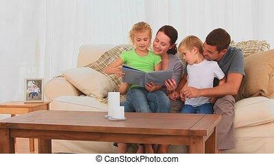 het kijken, gezin, mooi, album