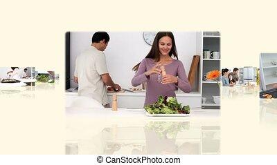 het koken, montage, families