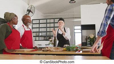het luisteren, chef-koks, kok