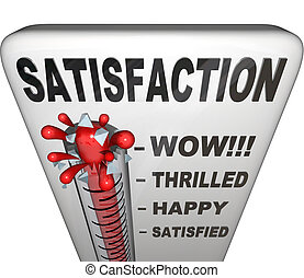 het meten, niveau, bevrediging, vervulling, thermometer, geluk