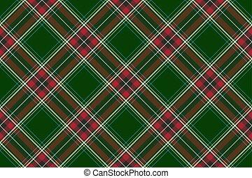 het patroon van de stof, seamless, textuur, diagonaal, groene, controleren, rood