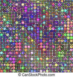 het potlood van de kleur, patternl