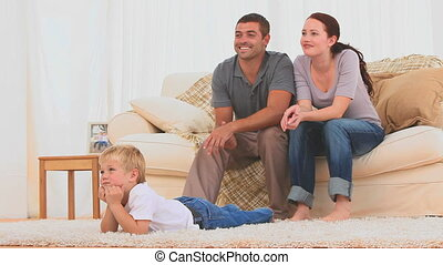 het schouwen tv, samen, gezin
