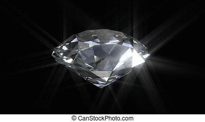 het spinnen, diamant, het glanzen