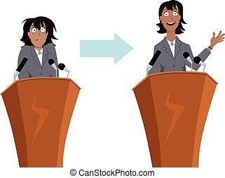 het spreken, publiek, opleiding