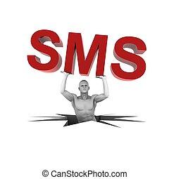 het tilen, persoon, 3d, sms