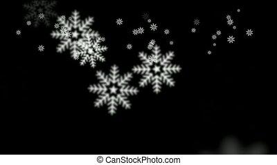het vallen, sneeuwvlok