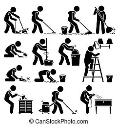 het zuiveren huis, reinigingsmachine, was
