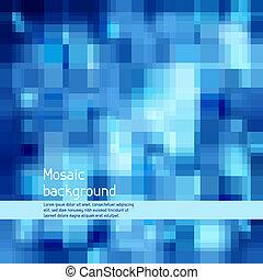 high-tech, achtergrond., abstract, mozaïek