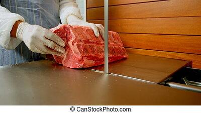 holle weg, 4k, machine, winkel, vlees, slager