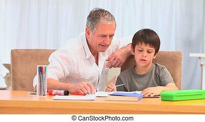 homeworks, zijn, kleinzoon, hepling, man