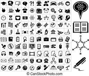 honderd, opleiding, iconen