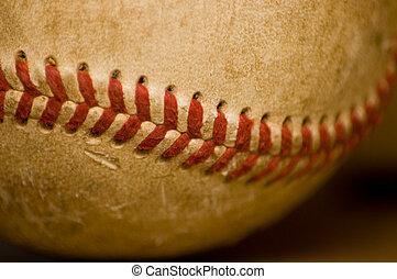 honkbal, close-up, bal