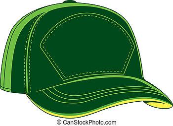 honkbal hoofddeksel, groene