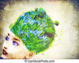 hoofd, gras