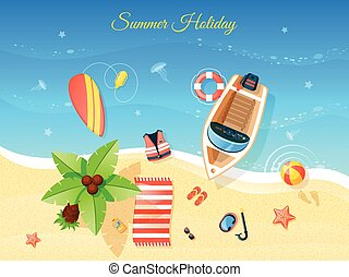 hoogste mening, strand, illustratie