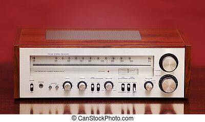 hoorn, vintage radio, stereo