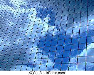 horizontaal, hemel, reflectie