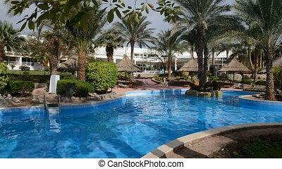 hotel, luxe, pool, zwemmen