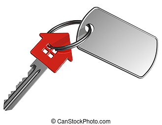 house-shape, rood, klee, etiket