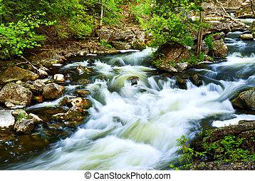 hout, door, rivier