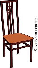 houten, chair.
