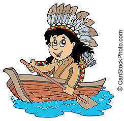 houten indiër, scheepje