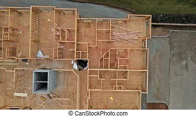 houten, ingelijst, balken, interieur, woongebied, thuis gebouw, gebouw