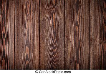 houten, land, tafel
