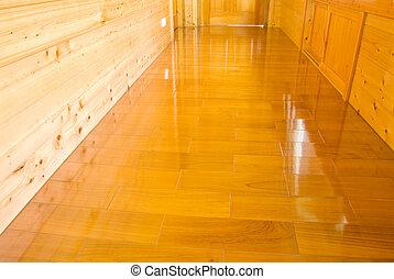 houten muur, vloer