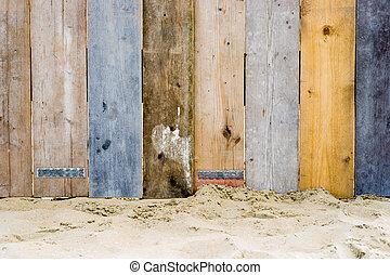 houten, ouderwetse , omheining
