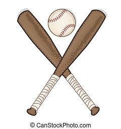 houten, ouderwetse , vleermuis, honkbal