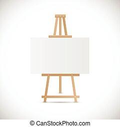 houten, schildersezel, illustratie