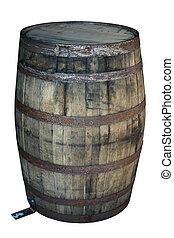 houten vat, oud