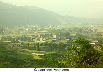 huisen, bouwland, china
