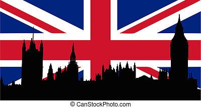 huisen, vlag, uk, parliamen