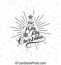 hulst, kerstmis, vrolijk, vrolijk