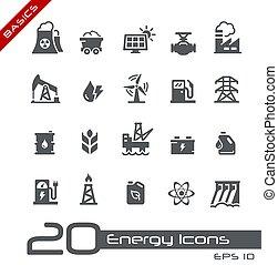 iconen, grondbeginselen, energie, //