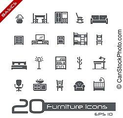 iconen, grondbeginselen, meubel, //