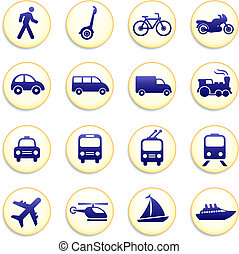 iconen, vervoer, communie, ontwerp