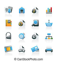 iconen, web internet, bouwterrein