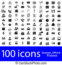 iconen, zakelijk, kantoor