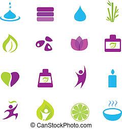 iconen, zen, wellness, water